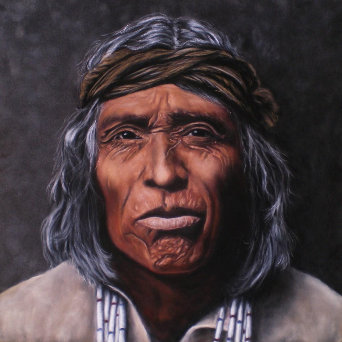 Zuni (14x14 Original Pastel on Suede Portrait, Framed) by Jessica Crabtree