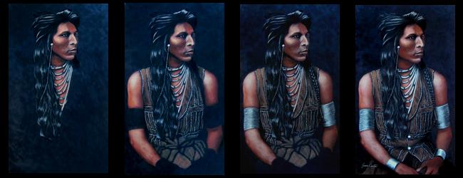 Shoshone Pastel Portrait by Jessica Crabtree