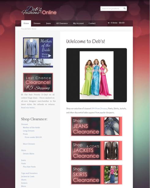 Deb's Fashions Online Store