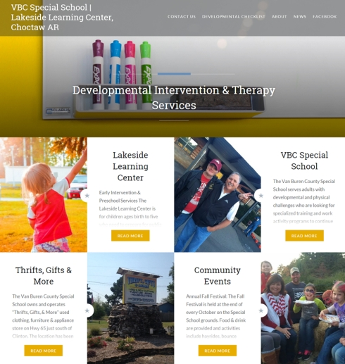 VBC Special School website - Jessica Crabtree ECT Web Designs
