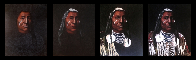 Crow Pastel Portrait by Jessica Crabtree