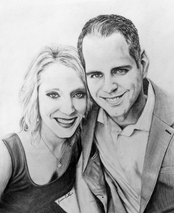 Whit & Ben (8x10 Graphite) Private collection.
