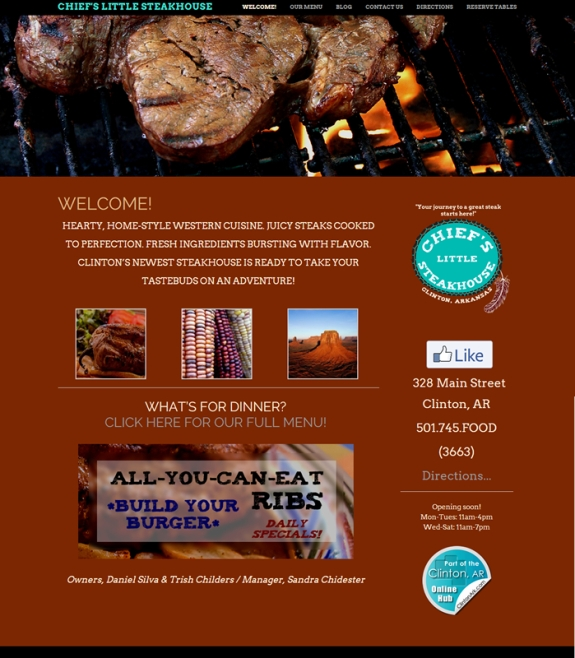 Chief's Little Steakhouse website
