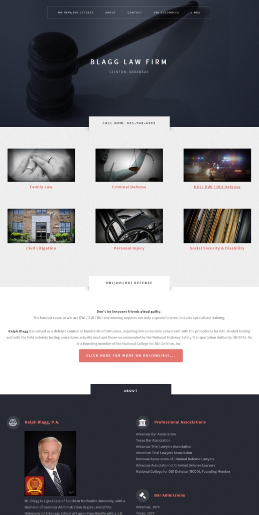 Blagg Law Firm in Clinton AR - Website by Jessica Crabtree