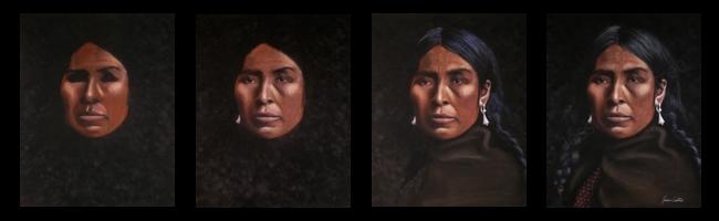 Lummi Pastel Portrait by Jessica Crabtree