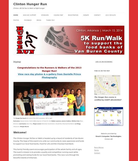 Clinton Hunger Run 5K www.clintonhungerrun.com