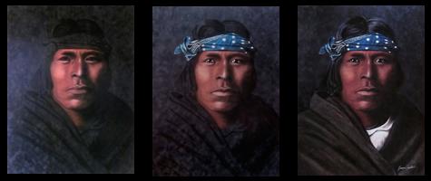 Acoma Pastel Portrait by Jessica Crabtree